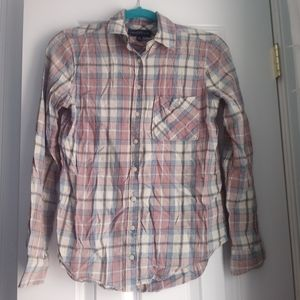 Aeropostale Plaid button up spring top